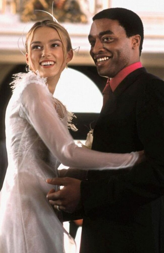 Keira Knightley and Chiwetel Ejiofor in Love Actually.