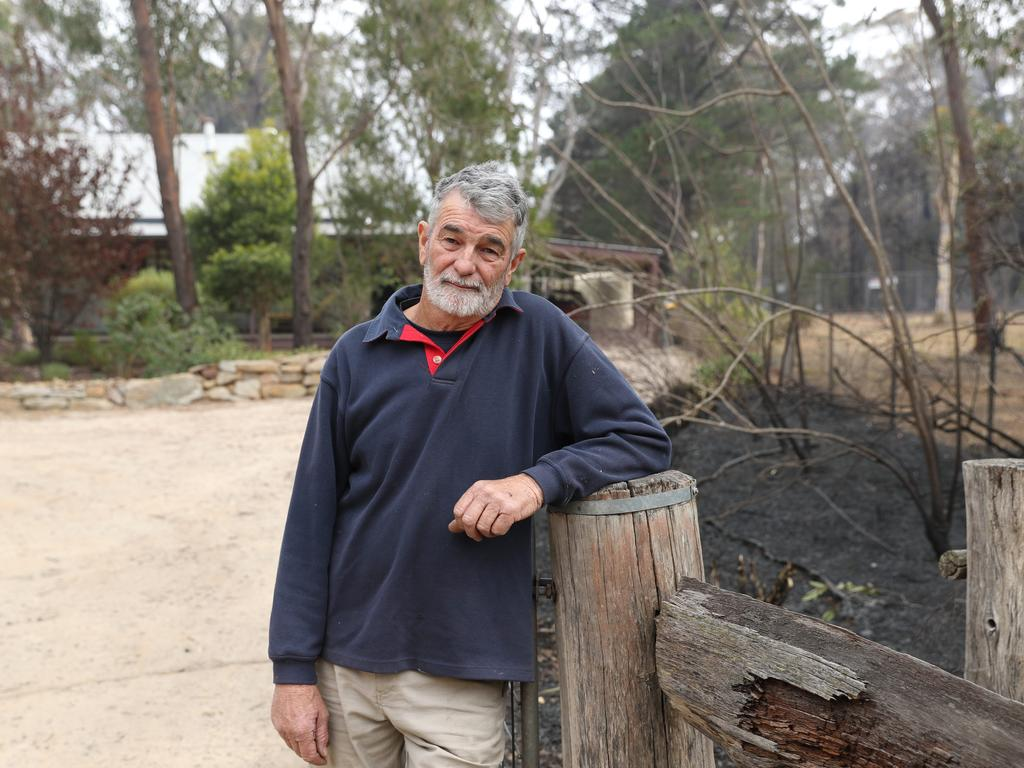 Colin Ripper outside his home in Balmoral. He stayed on Saturday and defended his property and managed to save his house. Picture Rohan Kelly