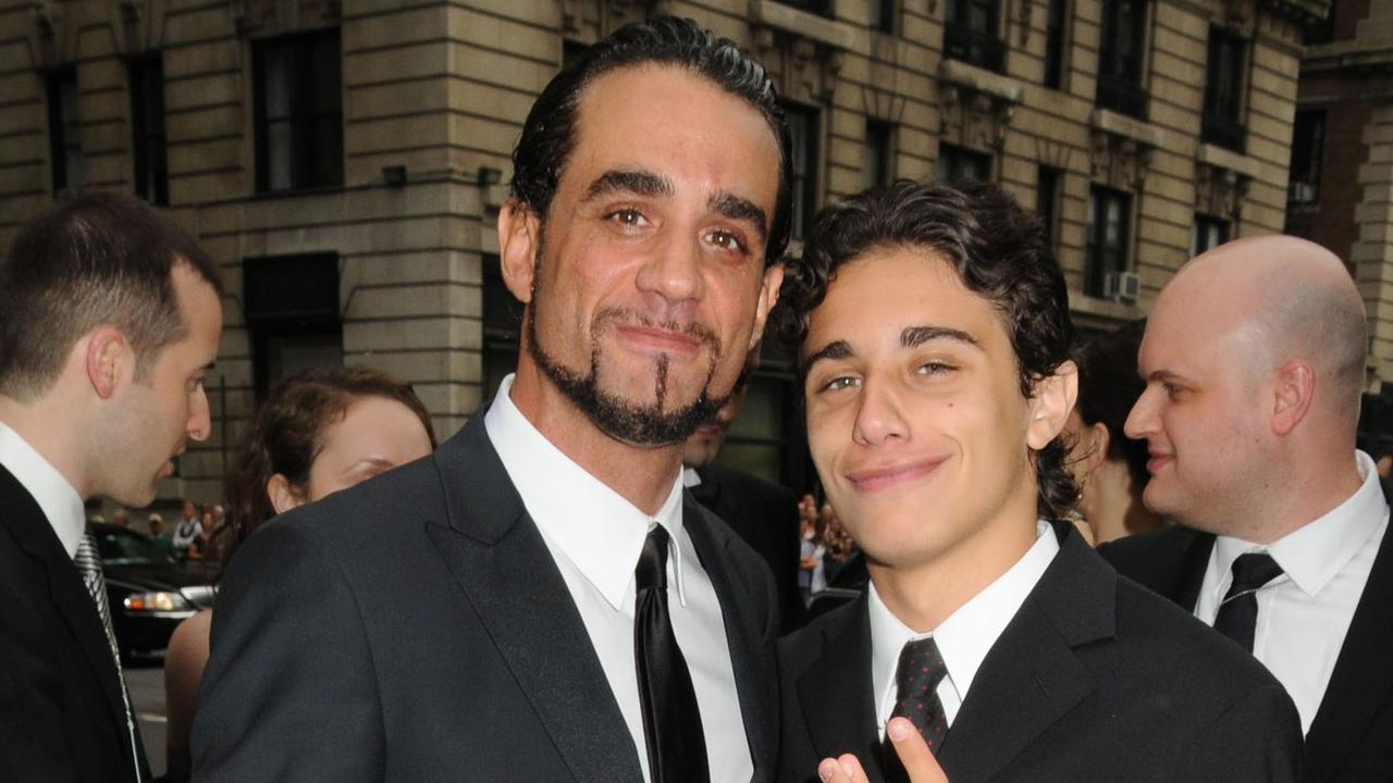 Jake Cannavale and his father (left), fellow actor Bobby. Picture: Splash