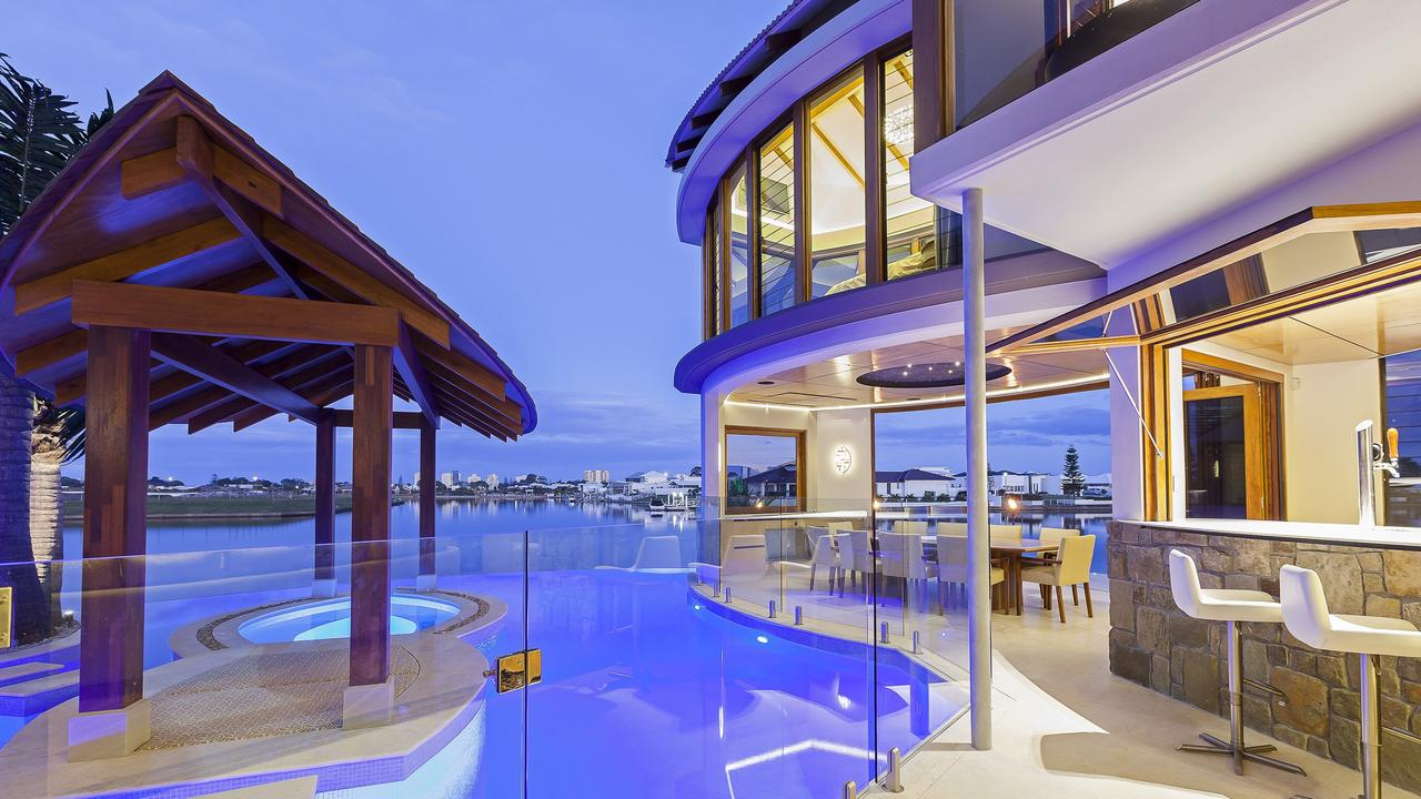A six-bedroom luxury home for sale on the Pelican Waters waterfront is expected to set a new suburb record of more than $4 million. Photo: Contributed