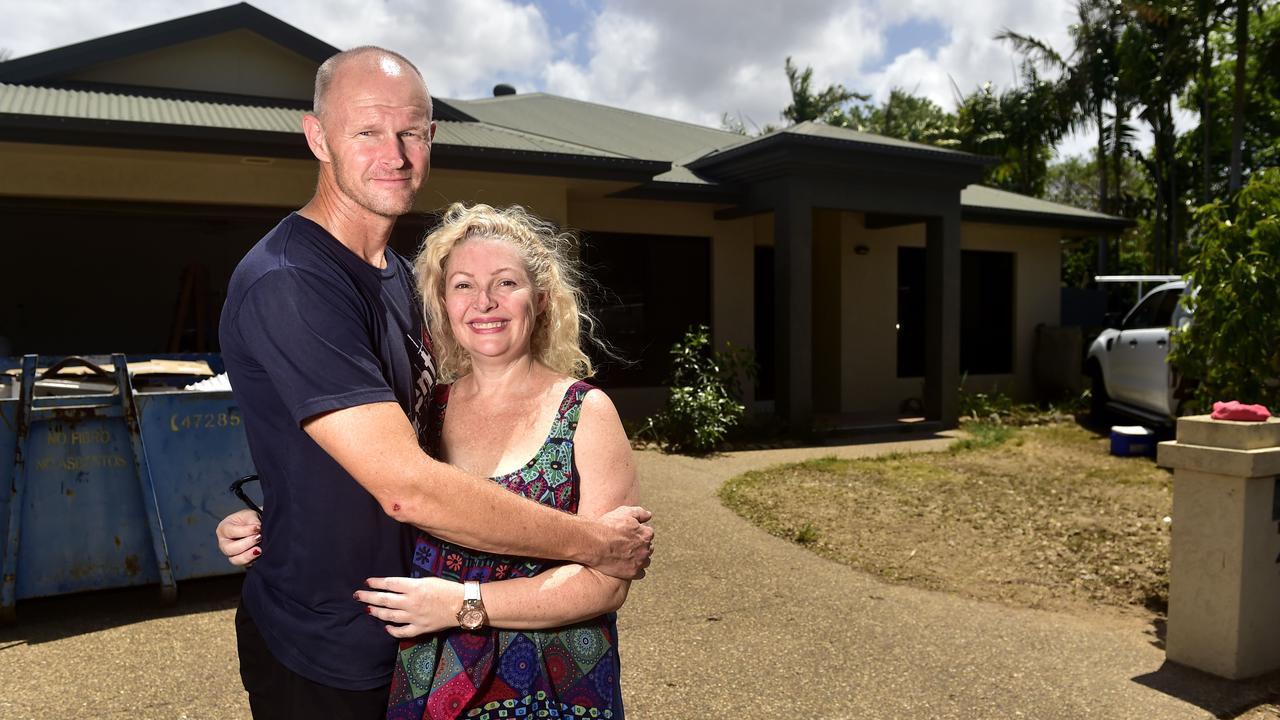 Jason Selman and his wife Cheryle will be back in their Waterbrook Close home for Christmas after it was inundated by floodwaters in February. PICTURE: MATT TAYLOR.