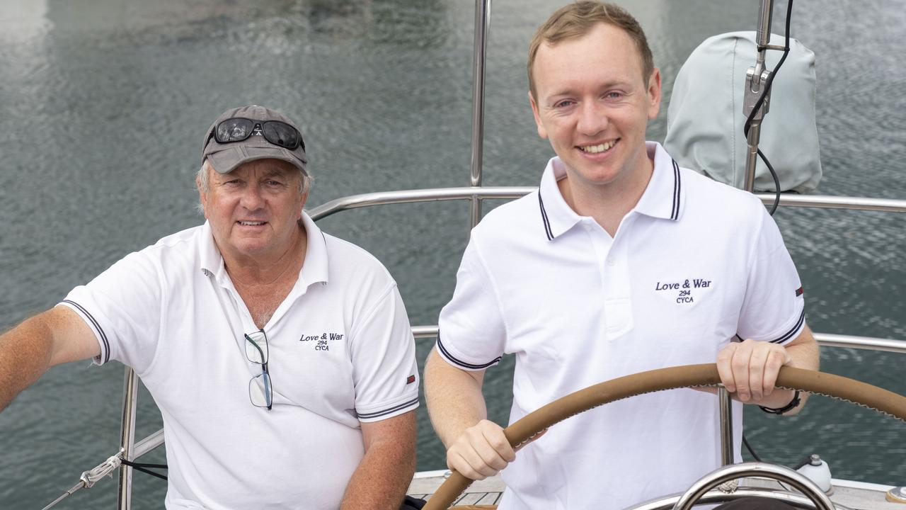 Simon Kurts and son Phillip are doing the Sydney to Hobart race on the beautiful timber boat Love & War.