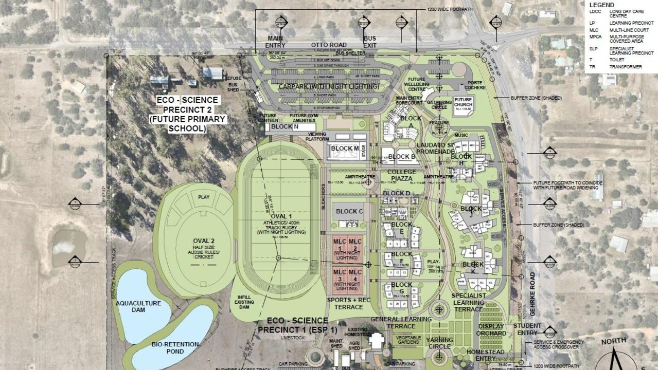 Proposed plan for the new catholic secondary school at Plainland.