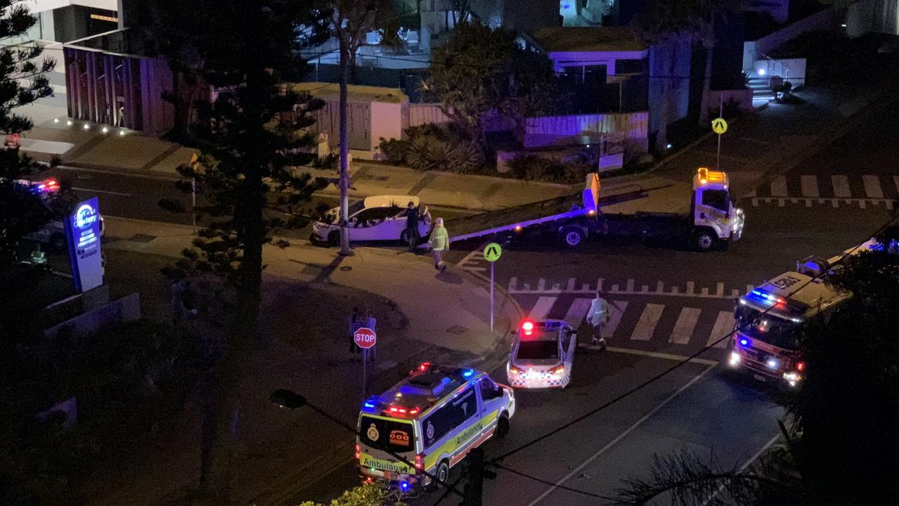 The driver allegedly crashed into a power pole while driving under the influence. Picture: Gold Coast Bulletin