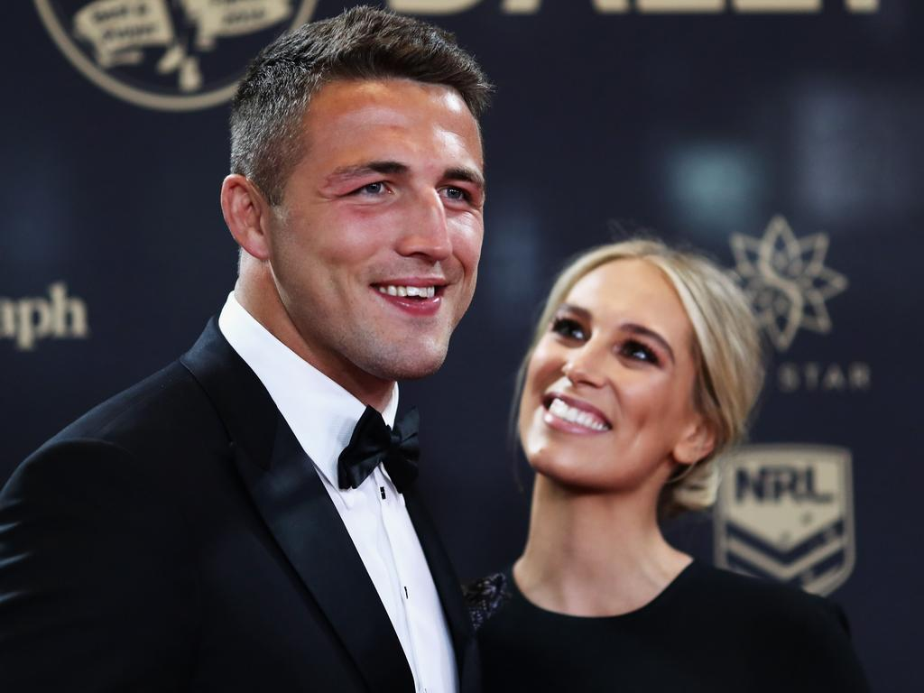 Sam Burgess and Phoebe Burgess are no longer together. Picture: Getty Images