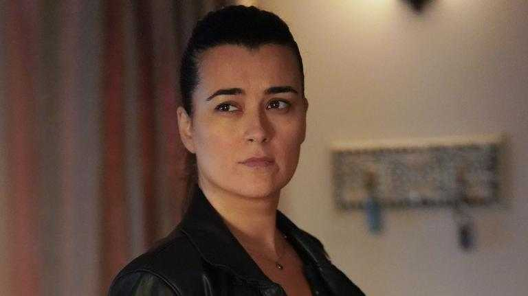 Cote de Pablo as Ziva David in a scene from season 17 of NCIS.