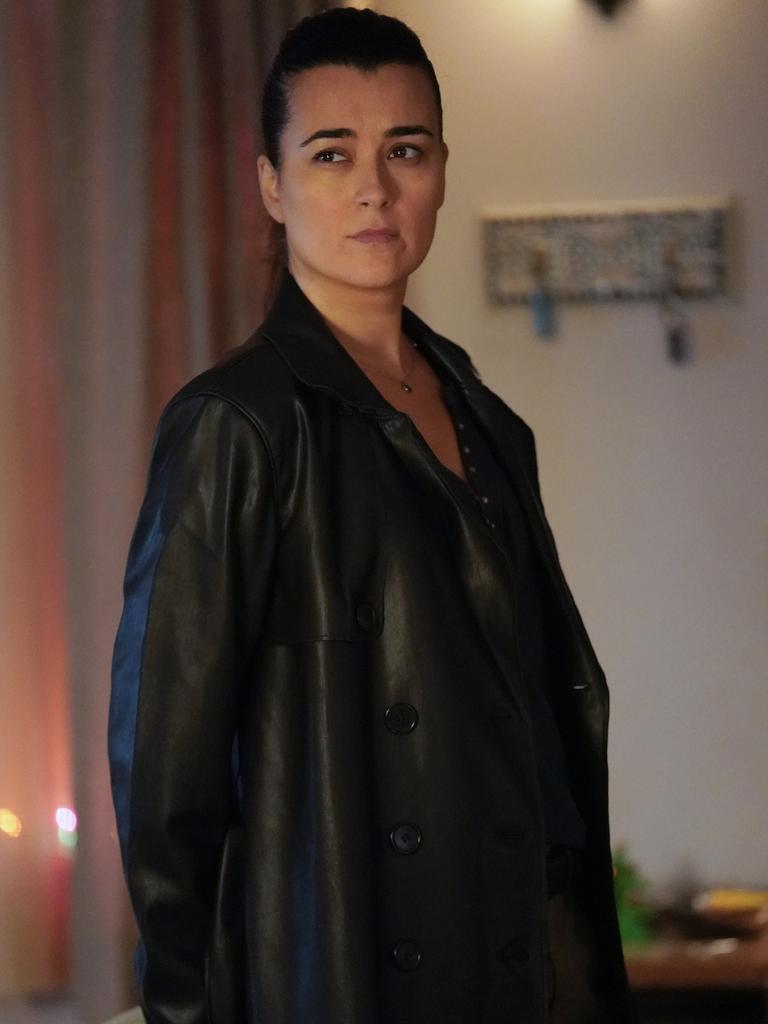 Cote de Pablo as Ziva David in a scene from season 17 of NCIS.