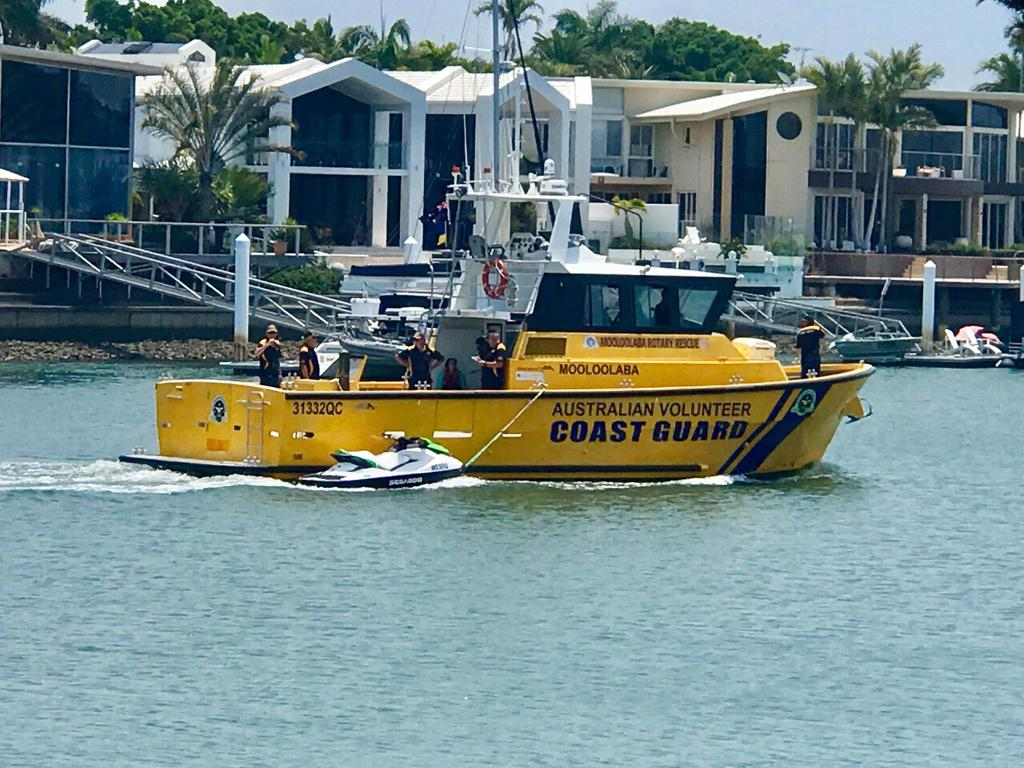 Coast Guard Mooloolaba helped rescue two women off Old Woman Island when their jetski crashed into rocks.