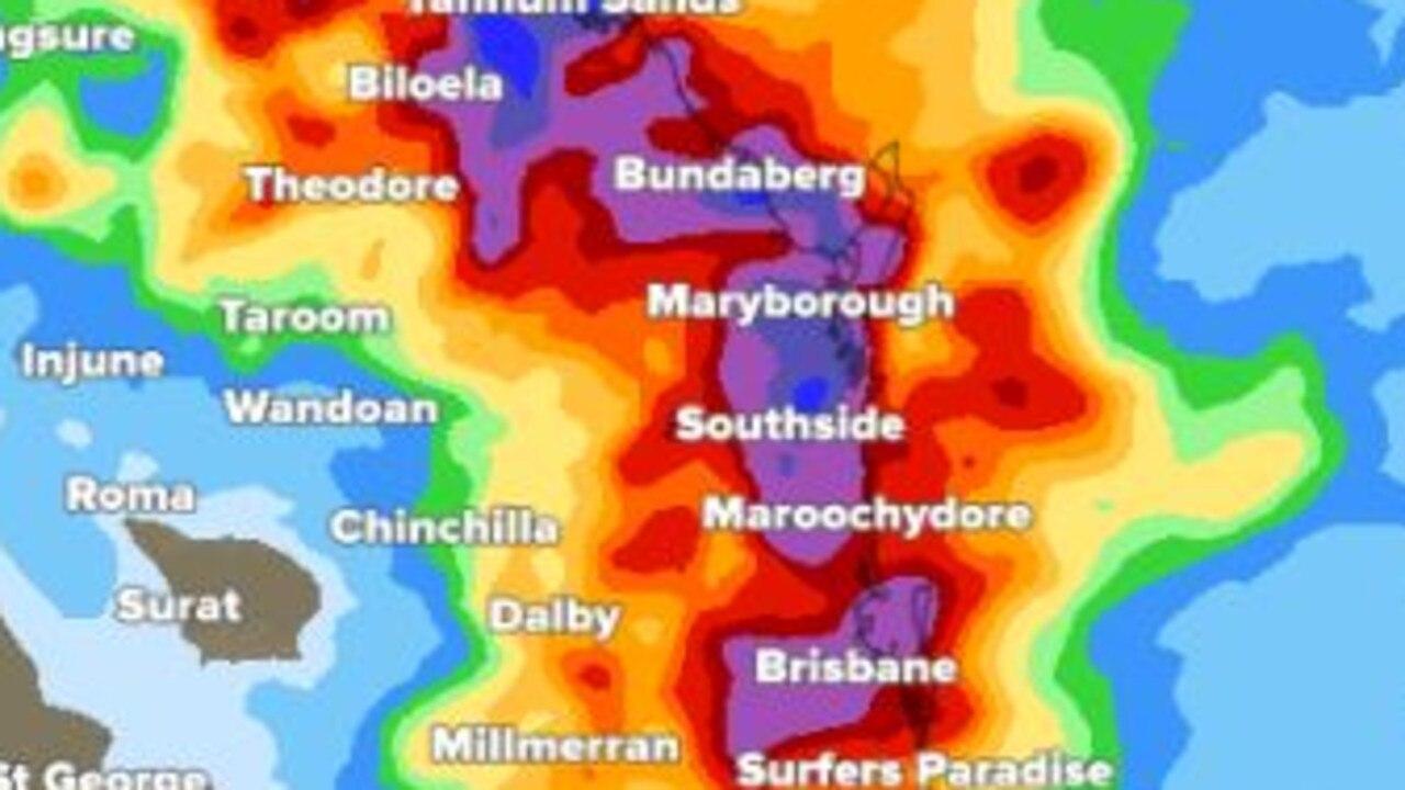 Heavy rain predictions for southeast Queensland.