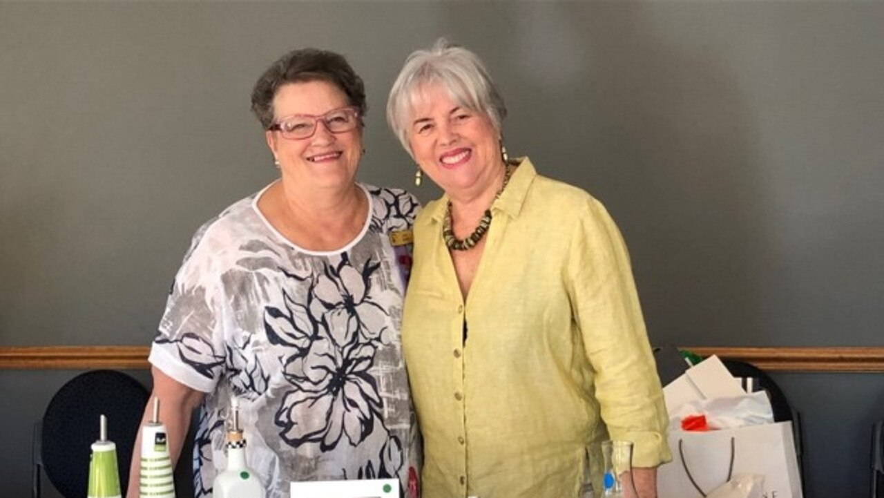 Chapel Hill VIEW club trading table convenors, Judy Dickie and Zillah Venn.