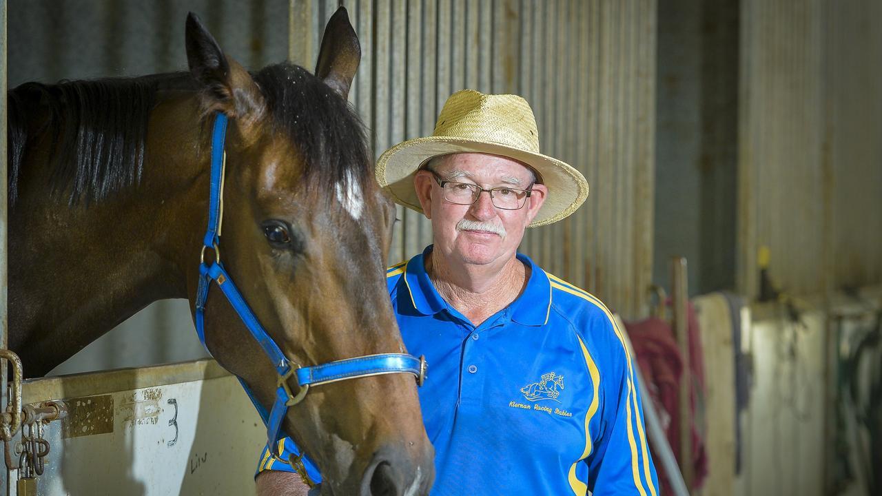 Gladstone horse trainer Lee Kiernan poses with racehorse La Celestina.