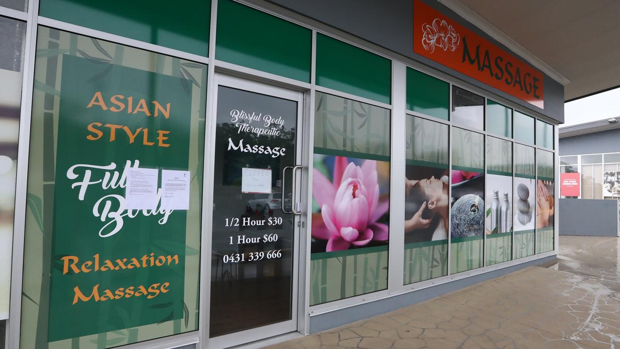 A Massage Parlour on Olsen Ave Molendinar has been closed down due to being an illegal brothel. Picture: Jason O'Brien
