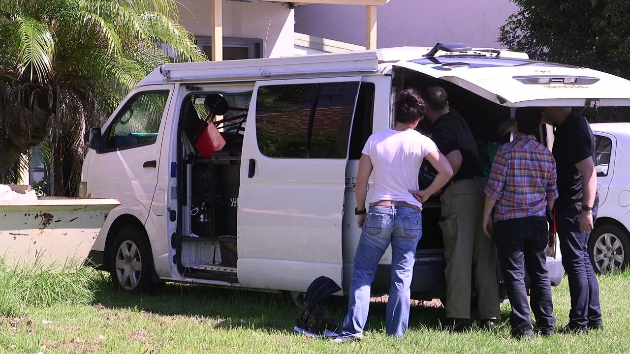 NSW Police Counter Terrorism officers executed a search warrant at Sandy Beach, searching a van linked to Brenton Tarrant.