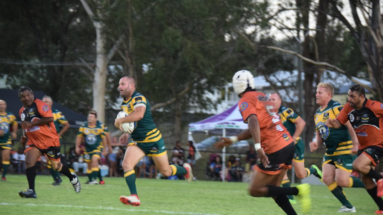 OPEN SPACE: Chris Walker gets into top gear in the Legends of League game.