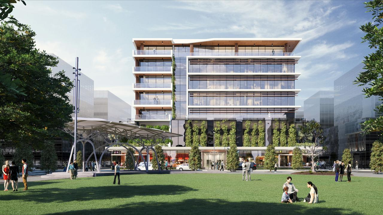 An artist's impression of Foundation Place in the Maroochydore CBD.