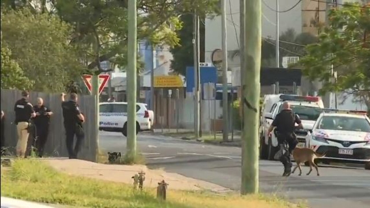 An emergency declaration has been put in place in Maryborough with a man claiming to be armed with weapons and saying he would use them on others. Picture: 9 News Wide Bay