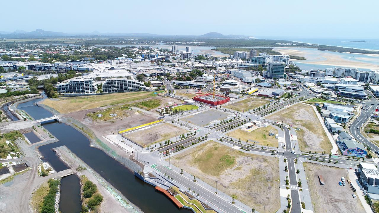 DRONE: Progress development of Maroochydore CBD. Photo Patrick Woods / Sunshine Coast Daily.
