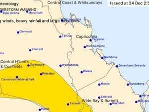 STORM WARNING: damaging winds, rain and hail