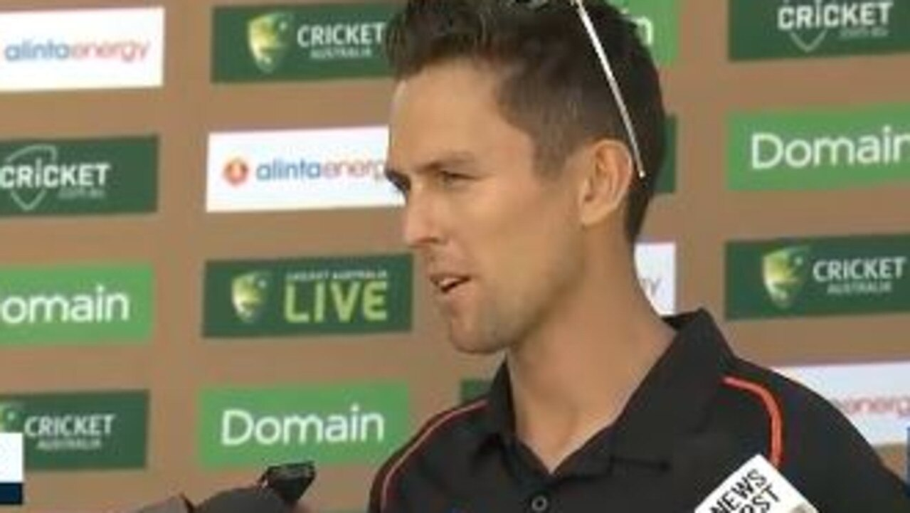 Trent Boult was in fine form with the microphone.