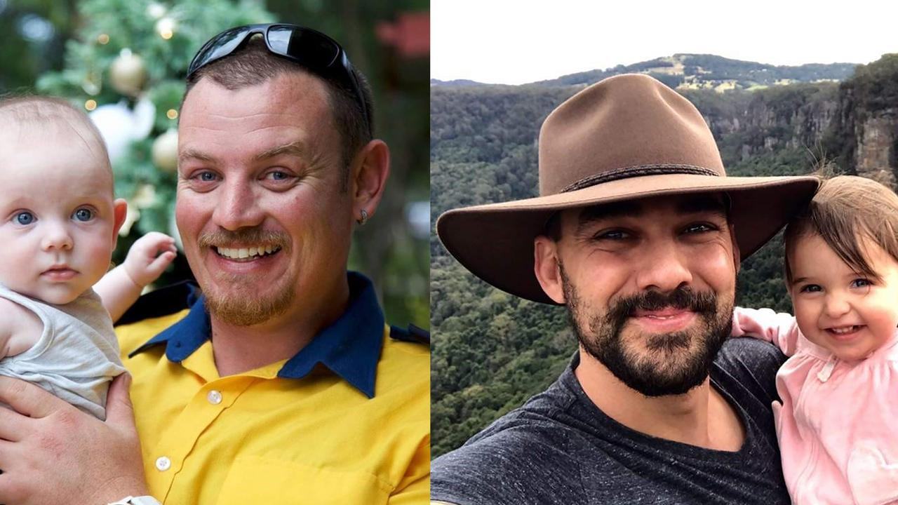 Geoff Keaton and Andrew O'Dwyer were killed when a falling tree caused their truck to roll. Picture: AAP Image/Supplied by Social Media