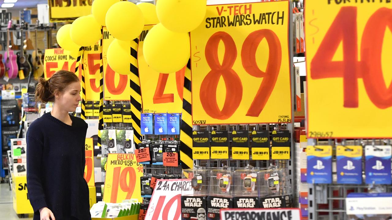 Sales kick off at JB Hi-Fi early online. Picture: AAP Image/Darren England
