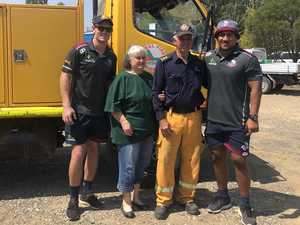 How these Qld sport celebrities are helping fireys