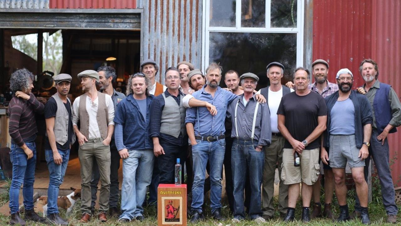 COMRADES: All-male choir Dustyesky. Photo: Anna Swain