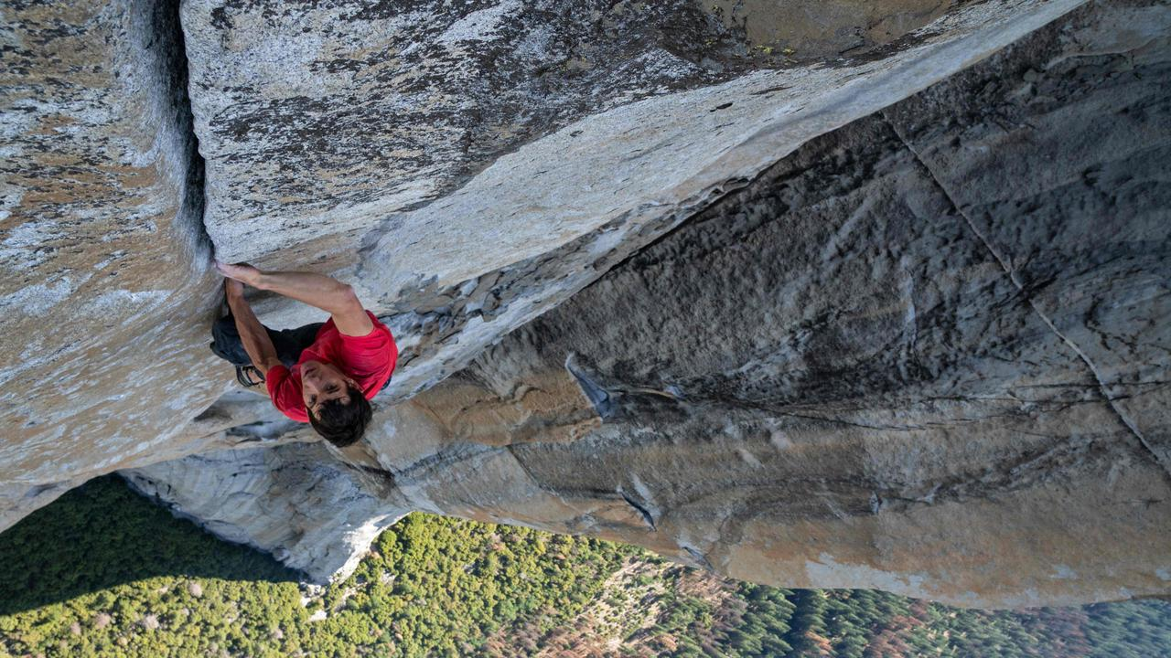 Alex Honnold made the first free solo ascent of El Capitan's Freerider in Yosemite National Park. Picture: National Geographic/Jimmy Chin