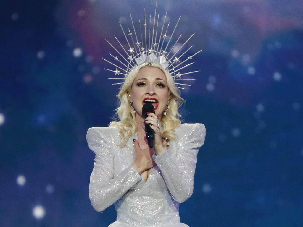 Kate Miller-Heidke represents Australia at Eurovision.