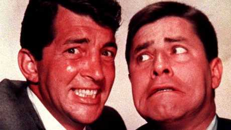 Dean Martin (left) with Jerry Lewis.