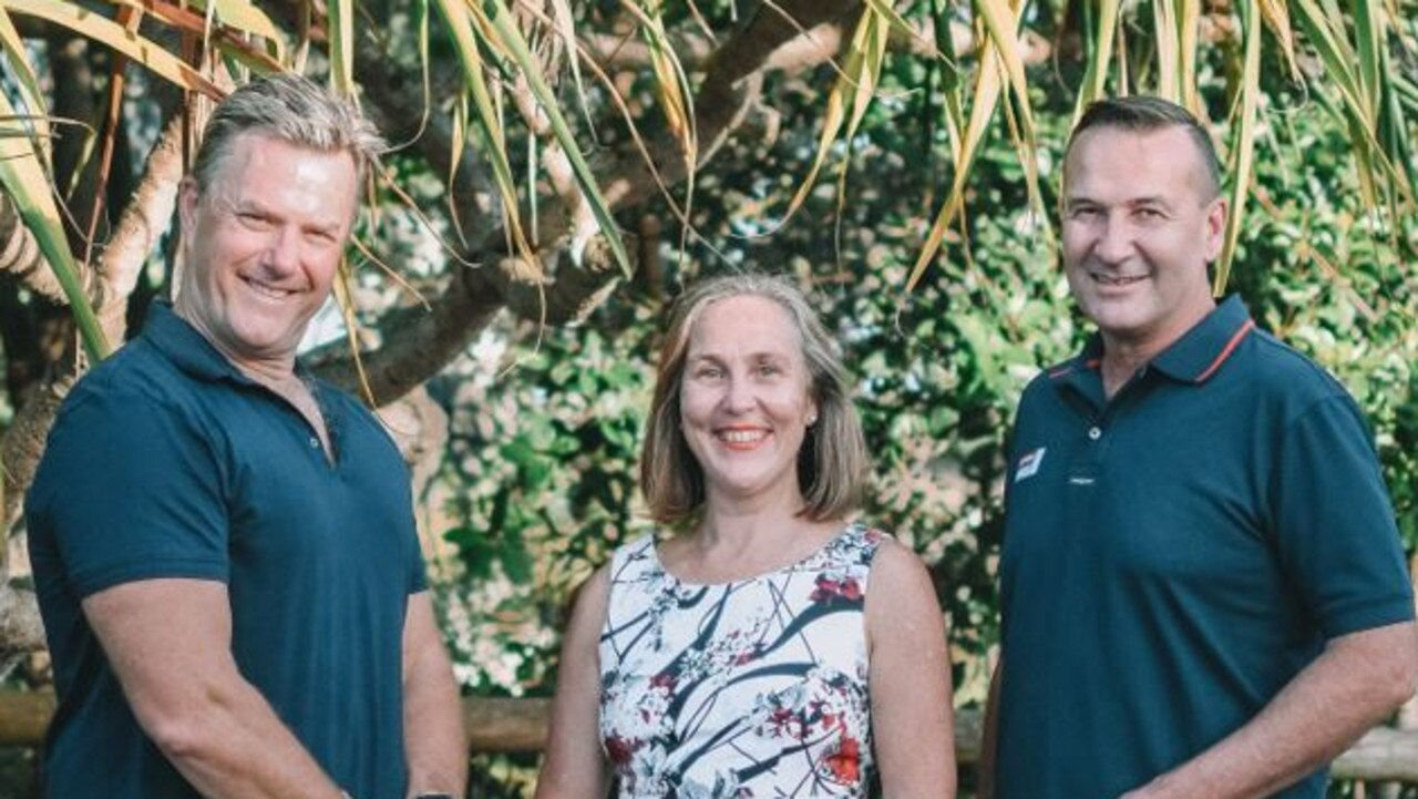Candidates for the Future Noosa team to contest local government elections in March include from left David Fletcher, Karen Finzel and Andrew Squires.