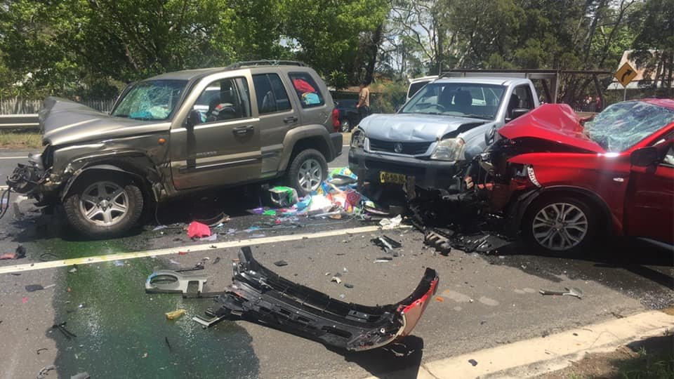 Four cars were involved in a multi-vehicle crash in Wardell on Boxing Day.