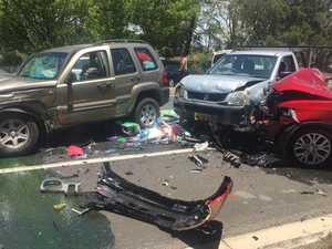 15-month-old baby taken to hospital after crash