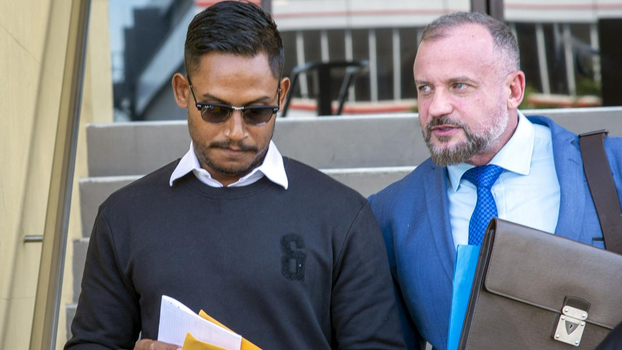Ben Barba and his Lawyer Campbell MacCallum. Photo: Daryl Wright.