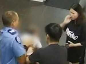 Christmas miracle as quick thinking cop saves choking baby