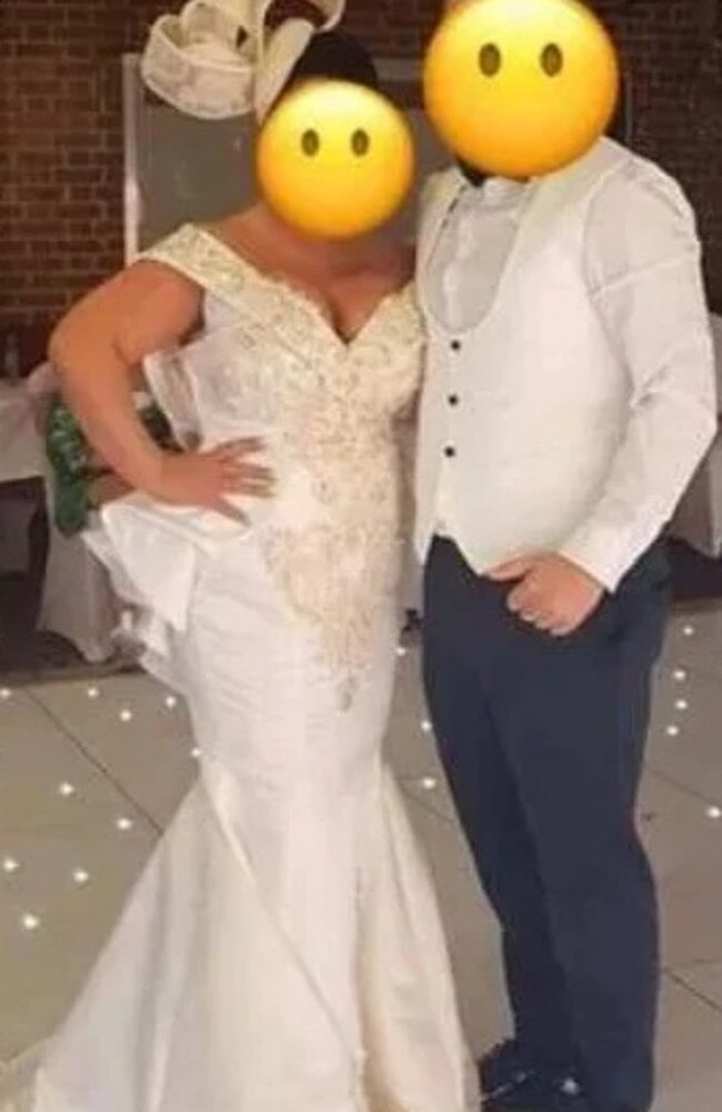 A woman recently attended her son's wedding wearing a wedding dress she later described online as a 'mother-of-the-groom dress'. Picture: Facebook