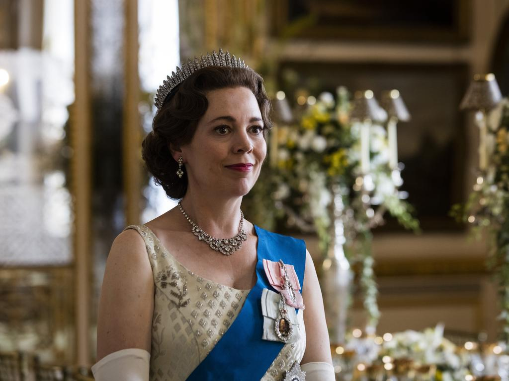 Olivia Colman portrays the Queen in the smash-hit series The Crown. Picture: AP