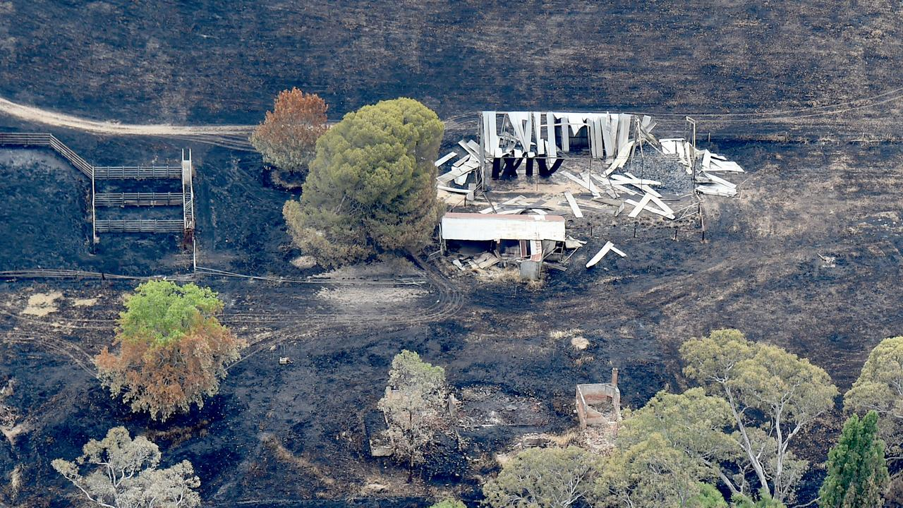 A 25,000-hectare blaze is still burning in Adelaide Hills. Picture: Naomi Jellicoe