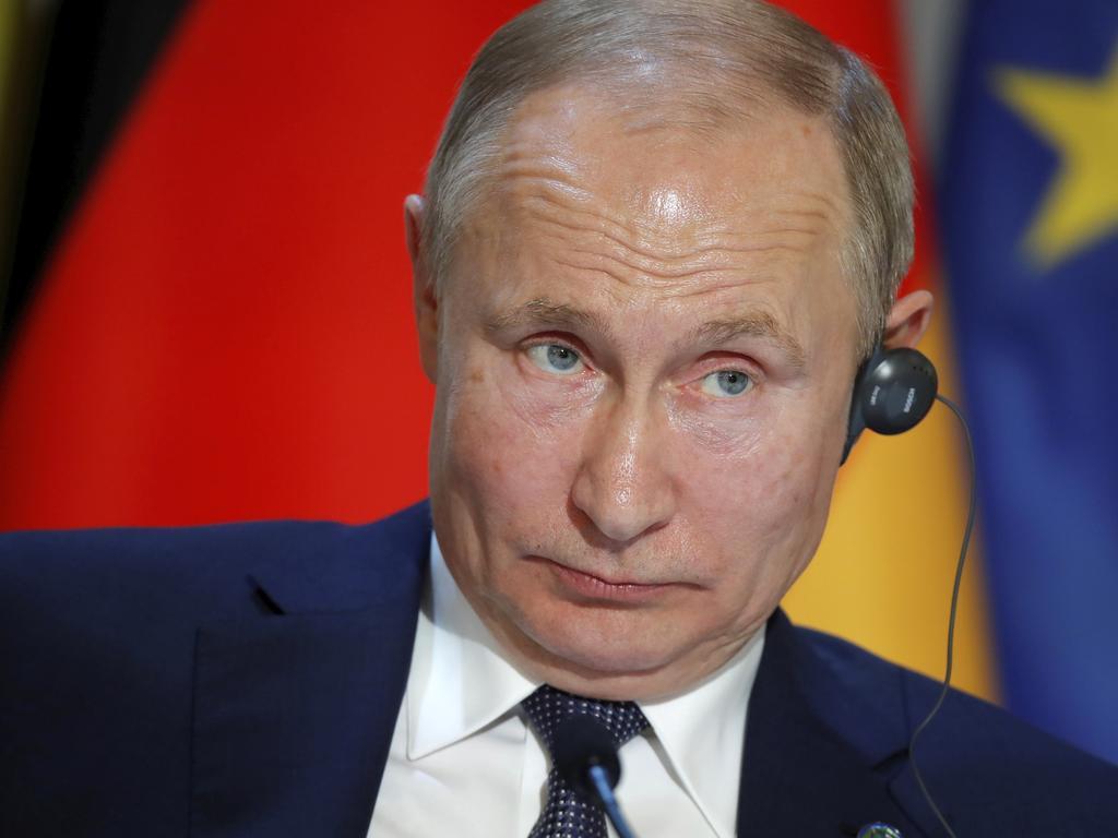Russian President Vladimir Putin. Picture: Charles Platiau/Pool via AP