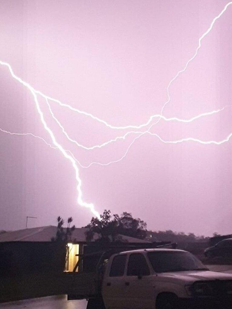 Gladstone storm on December 25. Photo: Renee Thurgood Swan