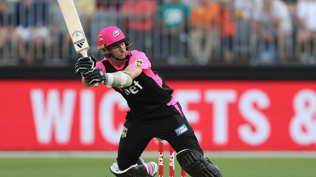 Tom Curran was 43 not out from 21 balls for the Sixers. Picture: Getty Images