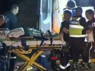 The woman was rushed to hospital but died from her injuries. Picture: 9 News