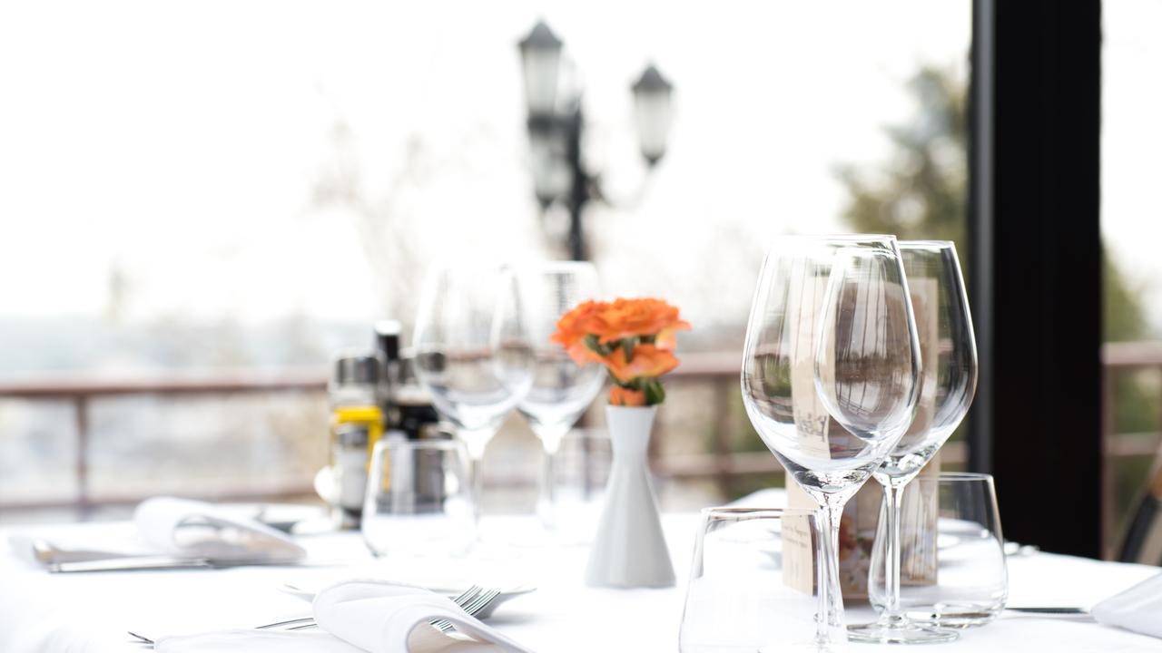 GCS My Life generic Baskk restaurant dining table & dinner place setting.