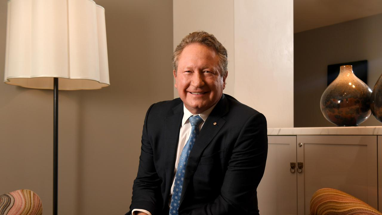 Andrew Forrest, the rich philanthropist from out west. Picture: Tricia Watkinson