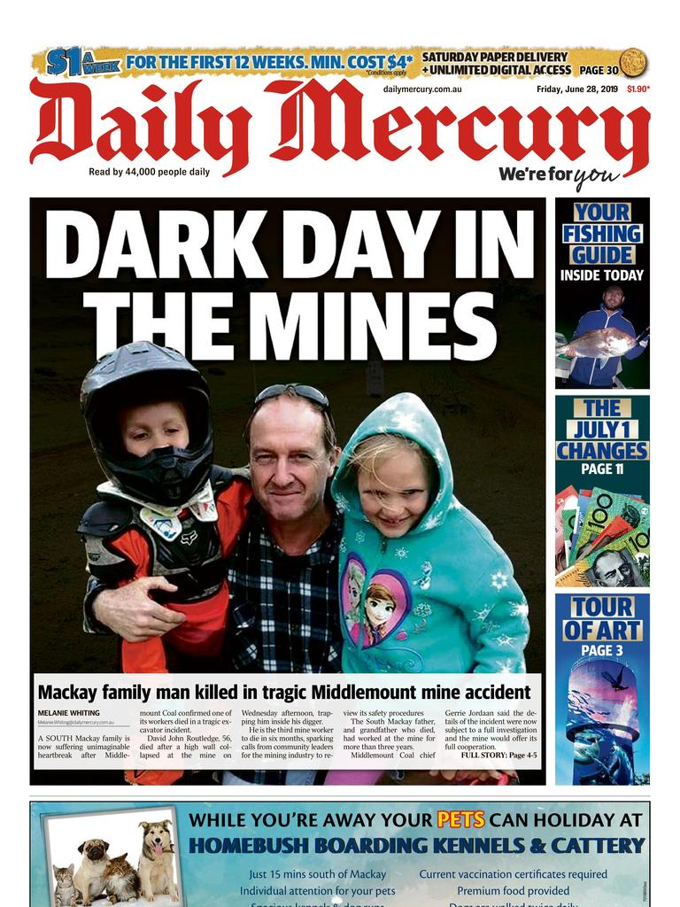 Daily Mercury front page June 28.