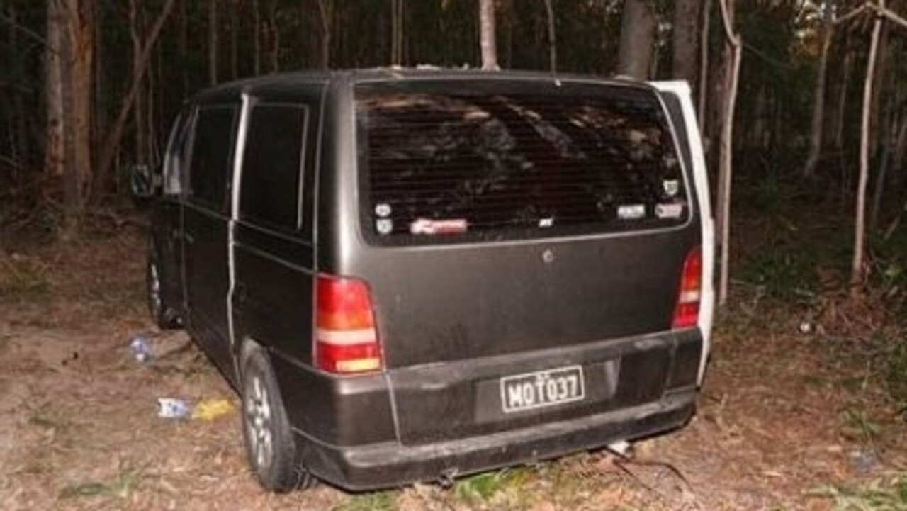 Police say this van was linked to the incident. Picture: Queensland Police