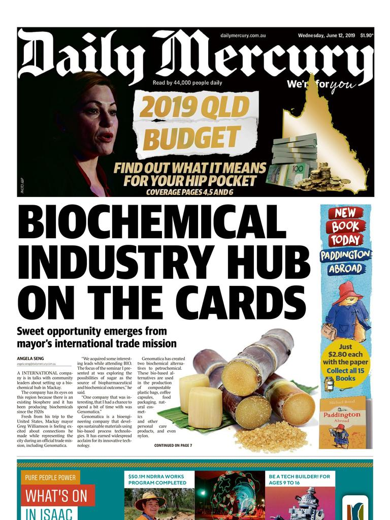 Daily Mercury front page June 12.