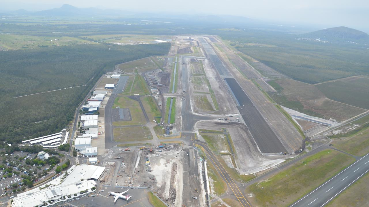Sunshine Coast Council provided an aerial update of the airport expansion project.