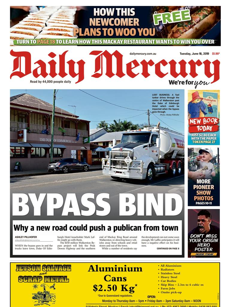 Daily Mercury front page June 18.