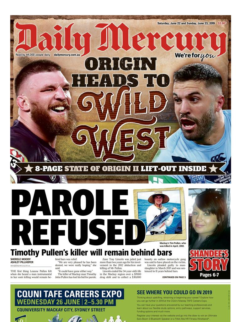 Daily Mercury front page June 22.